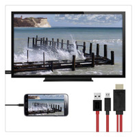 usb mhl venda por atacado-Micro usb para adaptador de cabo tv hdmi 1080p hd para android samsung telefones 11pin 184cm de hdmi para mhl