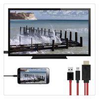 kablo mhl samsung toptan satış-Mikro USB HDMI 1080 P HD TV Kablosu Adaptörü Android Samsung Telefonlar için 11PIN 184 CM HDMI-MHL