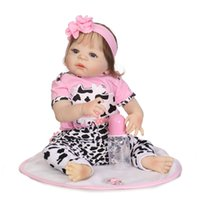Wholesale silicone baby dolls toy resale online - Bebe Reborn cm Full Silicone Reborn Girl Baby Doll Toys Realistic Newborn Princess Babies Doll Lovely Birthday Gift Present