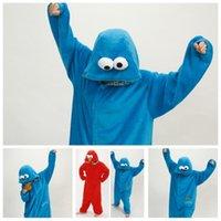 pijamas de desenhos animados adultos venda por atacado-Flanela dos desenhos animados Animal Pijamas Inverno Manter Quente Sting Onesie Pijamas Estéreis Suave Adultos Pijamas Azul Vermelho Criativo 36za BB