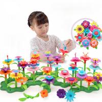 Wholesale toy assembling resale online - 46pcs Learning Playset Assemble Toy Craft For Kids Colorful Educational Building Toddler Flower Arrangement Children Growing DIY T200401
