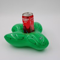 blasenkunststoffe großhandel-2019 neue Flamingo Fußball Kaktus Freundliche PVC Aufblasbare Getränke Getränkehalter Pool Parteien Schwimmt Untersetzer Spielzeug Flotation Geräte