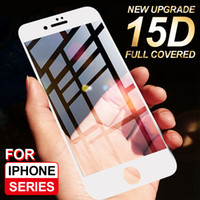 Wholesale 5s full body screen protector for sale – best 15D Protective Glass on the For iPhone s plus XR X glass full cover iPhone XS Max S SE Screen Protector Tempered Glass