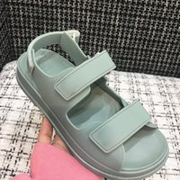 Wholesale soft leather comfort shoes for sale - Group buy The latest Velcro sandals for ladies waterproof beach shoes vamp D printed upper mesh mesh mesh strap comfort sandals for ladies BOX