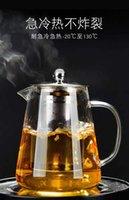 cerâmica de chá venda por atacado-Alta Temperatura de Espessamento À Prova de Explosão de Vidro Bule de Filtração de Cerâmica Bule de Caldeira Chaleira Set para Uso Doméstico Pequeno Bule de Chá Conjunto