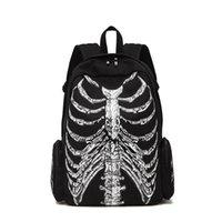 große schädeltaschen großhandel-Top Designer Rucksack Marke Schädel Rucksack Mode Schädel Muster Bookbag Tasche Große Kapazität Reiserucksack Lässig Daypack