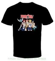 ingrosso camicie anime coda fata-Maglietta degli uomini di nuova moda Fairy Tail Anime 1 Maglietta del cotone di trasporto libero S 6xl