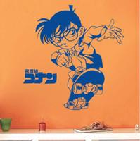 decalques de quarto de anime venda por atacado-Frete Grátis Anime Dos Desenhos Animados One Piece Totoro TV Quarto Casa Decalque Adesivo de Parede Decalque-Detetive Cocan 2