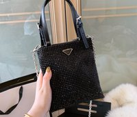 Wholesale shining handbags resale online - mini Shopping Bag canvas With Genuine Leather tote High Quality Tote Bag Shining Handbag women bags