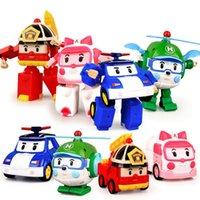 araba ambulansı toptan satış-Deformasyon Araba Robot Action Figure Robot Mini Oyuncaklar Deformasyon Araba / Yangın Motorlar / Ambulanslar / Helikopter Hediye Çocuklar için