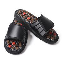 chinelos de massagem venda por atacado-Tai Chi Acupoint Primavera Preto Sapatos de Massagem Cuidados de Saúde Resistente Ao Desgaste Antiderrapantes Chinelos de Borracha Sólida Hot Sale Shoeses 22wdD1