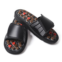 ingrosso pantofole calde massaggiatrici-Tai Chi Acupoint Spring Nero Scarpe da massaggio Sanità Resistente all'usura Pantofole antiscivolo Suola in gomma Morbida vendita calda Scarpe 22wdD1