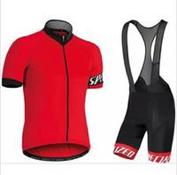 bisiklet çorabı takımları toptan satış-2019 yeni kısa kollu Jersey suit sıkı nefes bisiklet set dağ bisikleti bisiklet sürme MTB Jersey