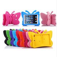 couverture de protection mini ipad achat en gros de-Coque anti-choc Cartoon Butterfly EVA pour iPad 2/3/4 5/6 / Air / 2 mini 2345 nouvel iPad Pro 9.7 Coque pour enfants