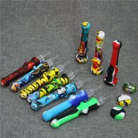 Wholesale nectar collectors quartz nails resale online - Nectar Collector Kit mm happywater pipes mm with quartz nail Nectar Pipe quartz tips smoking water glass pipe in stock