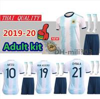 camisetas de futbol uniformes argentina al por mayor-2019 2020 camisetas de fútbol argentina cop america equipo de camiseta de fútbol argentina uniformes 19 20 MESSI Camiseta de futbol DYBALA maillot de foot
