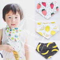 mode baby mädchen handtuch großhandel-Mode Baby Lätzchen Junge Mädchen Fütterung Handtuch Dribbeln Dreieck Wasserdichte Mütter Pflege Slabbers Baumwolle Baby Bandana Lätzchen für Neugeborene Spucktücher
