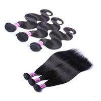 Wholesale curly brazilian hair online - Ais Hair Indian Virgin Human Hair Bundles Hair Extension Weave Raw Unprocessed Bundles Straight Body Wave Deep Wave Curly