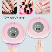 Wholesale dual light source resale online - 72W Nail Polish Dryer Curing Lamp UV LED Dual Light Source for All Gels Nail Art Tools CD88