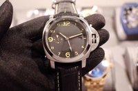 bandas especiales de reloj al por mayor-Edición especial Marca Movimiento automático Reloj de los hombres Vuelta de cristal Gris Dial Banda de cuero Reloj masculino Montre Homme