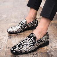 el yapımı i̇talyan erkek elbiseleri ayakkabı toptan satış-Yeni Moda Erkekler Partisi ve Düğün El yapımı Loafers italyan Erkek Modası Ayakkabı Rahat Nefes Erkekler