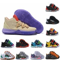 56c4bb917b1c New Mens Kyrie 5 Concepts Ikhet Multi-Color Irving 5 Sport Sneakers Irving  Basketball Shoes for Cheap Sale size 7-12