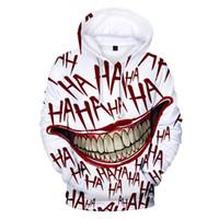 joker giyim erkek toptan satış-Haha joker 3D Baskı Kazak Hoodies Erkekler ve kadınlar Için Hip Hop Komik Sonbahar Streetwear Hoodies Kazak Çiftler Giysileri