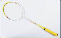 raquetas de badminton grátis venda por atacado-Alumínio Badminton Racket da Concorrência Adulto Formação Two Badminton Rackets frete grátis