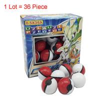 filmes educativos venda por atacado-36pcs / Lot Elf agarrar a Pokéball Brinquedos Pikachu Elf Bola Pikachu Balls 3-5cm dos desenhos animados Filme Com Pikachu Figuras de Ação Toy boneca Educacional