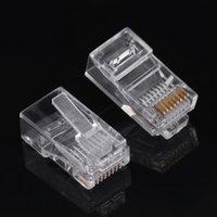 Wholesale internet connectors for sale - Group buy Cat5 Cat5e Network Internet Connector RJ45 P8C Cable Modular Plug Heads