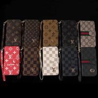 tampa da tampa da bolsa venda por atacado-Retro flip phone case para iphone x xs max 8 7 6 plus wallet bolsa casos para galaxy s10 s9 s9 s8 s7 nota 9 ...