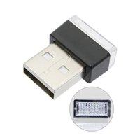 mini isqueiro usb venda por atacado-2 pcs Mini LED Car Atmosfera Luz DC 5 V USB Cigeratte Mais Leve Decoração Luz Auto Pé Lâmpada de Iluminação Interior 5 Cores