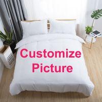 cama king size de impresión 3d al por mayor-F * Juego Personalizar Dropshipping Juegos de cama en 3D Impreso Duvet Cover Set Queen King Twin Size