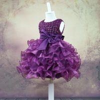 trajes de ação de graças crianças venda por atacado-Princesa menina Vestido de Festa Vestidos de Crianças para o Aniversário de Casamento Do Miúdo de Ação de Graças Roupas Criança Flor Vestido de Roupas Traje Do Bebê