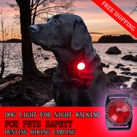 ingrosso collari di cani chiari-collare per cani super luminoso luci caccia flash lamp 100 m cane impermeabile esterno per la notte a piedi animali domestici sicurezza led lampade 10 pz / lotto