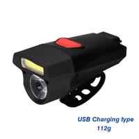 doppel-xenonlampe großhandel-IPX6 wasserdichte USB wiederaufladbare Fahrrad Licht Doppel Lampe Perlen Lenker Scheinwerfer Fahrrad Licht Ausverkauf # 163896