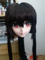 crossdresser japonés al por mayor-(Nuevo 06) Mascarilla de goma de silicona femenina hecha a mano Cosplay Kigurumi Máscara Crossdresser Doll Kigurumi Japanese KIG Anime Juego de roles