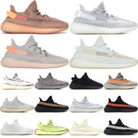 Wholesale shoe up online - 350 V2 True Form Hyperspace Clay Static Mens Running Shoes Kanye West Cream White Black White Bred Women Fashion Sport Sneakers