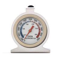 medidores de termómetro venda por atacado-Alimentos Temperatura Da Carne Termômetros Stand Up Dial Forno Termômetro Calibre Medidor de Aço Inoxidável Calibre Ferramenta de Cozinha FFA2127