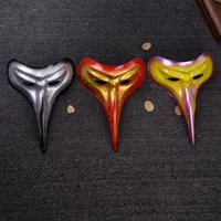 Wholesale face painting masks for men resale online - Long Mouth Beast scary masks halloween Spray Paint PP Terror Hip Hop Mask Dancers Perform In Unison Party Supplies cyC1