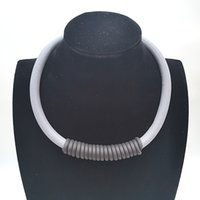 colar de gargantilha venda por atacado-Ydydbz new rubber winding colares mulheres collares cinza e preto corda handmade colar choker acessórios de pano jóias do punk