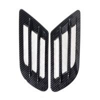 plastik havalandırma deliği toptan satış-Saim Araba Hava Akış Sticker Yapıştırıcı Yan Havalandırma Çamurluk Emme Dekor Siyah 2 Adet