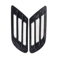 Wholesale side air vent sticker resale online - Saim Car Air Flow Sticker Adhesive Side Vent Fender Intake Decor Black