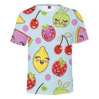 fruchtdruck männer großhandel-HIP HOP MODE 3D Frucht Druck Sommer T-shirts Frauen Männer Kleidung Beiläufige Dünne Kühle Kurze Ärmel T-shirts