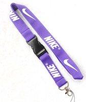 cordões roxos venda por atacado-Frete grátis 10 pcs marca muito colhedor de roupas cordão para MP3 / 4 chaveiro colhedores de corrente chave titular / destacável roxo