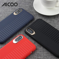 Wholesale simple mobile phones for sale - AICOO Scrub Simple Solid Color Mobile Phone Case Stripe Shockproof Full Protection Soft Case for iPhone XS MAX XR X Plus Retail Package