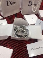 créateurs de bijoux de pierre gemme achat en gros de-Designer 2019 New Fashion Gemstone éternelle séchée Bracelets Charms Femmes Bracelets mousqueton cuir ancre en gros