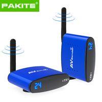 приемник аудиоданных оптовых-PAKITE PAT-535 беспроводной передатчик и приемник AV-передатчик аудио-видео отправитель 200 м RCA с ИК-удлинителем