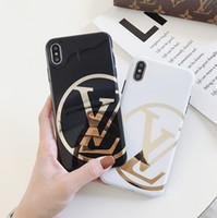 ingrosso caso per iphone5 nuovo-Custodia per iPhone di design per Apple applicabile per iPhoneXR XSMAX XS 7/8 plus 7/8 6 / 6SP 2019 Custodia per telefono di lusso con lettere di marca 6 stili