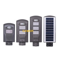 Wholesale pole street resale online - New W W W Solar LED Street Light IP65 Integrated PIR Motion Sensor Outdoor Wall Light with Pole Remote Control
